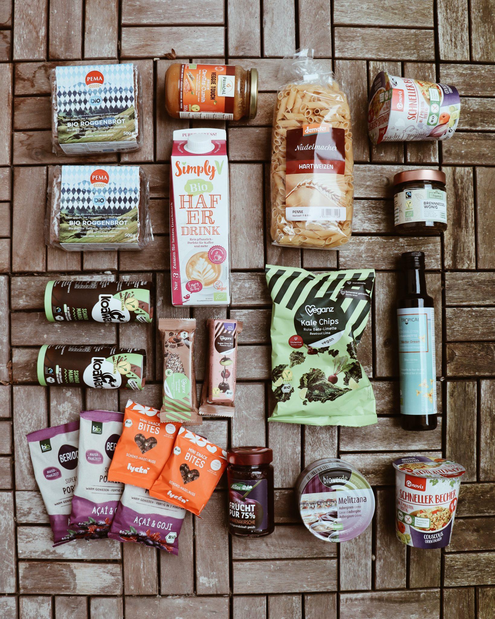 Auswahl vegane Retterbox von Sirplus