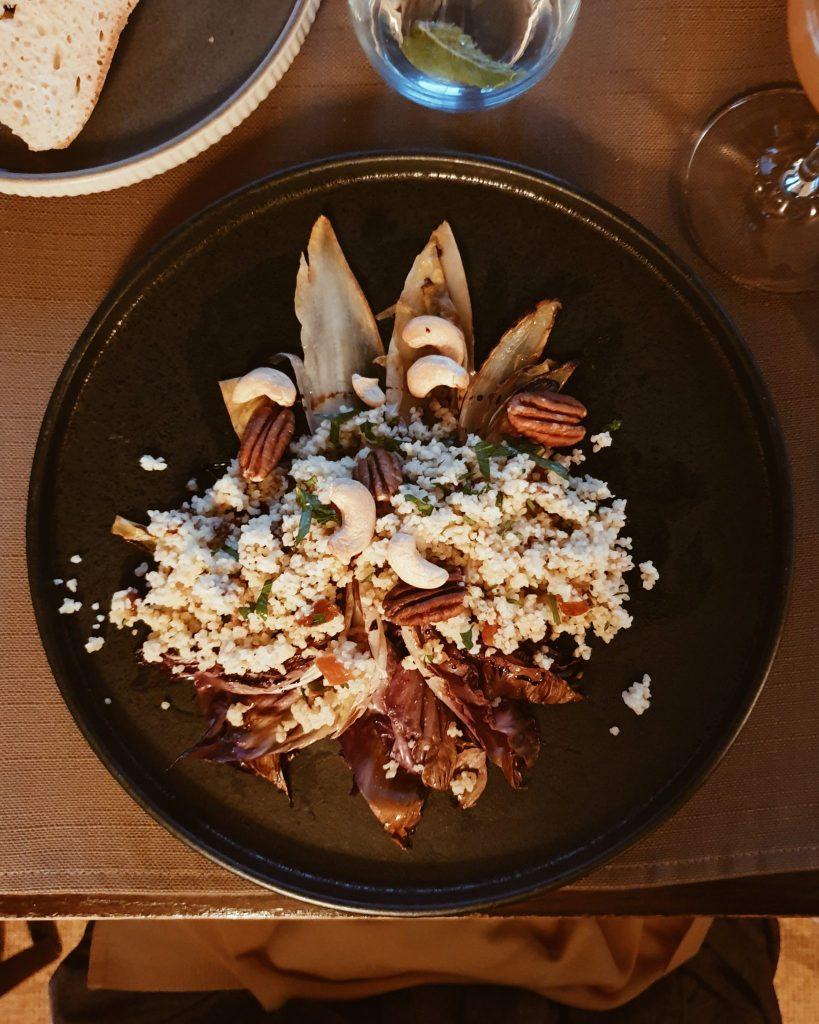 Couscous mit gegrilltem Radicchio und Seeberger Nüssen